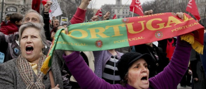 Demonstration against government policies in Lisbon