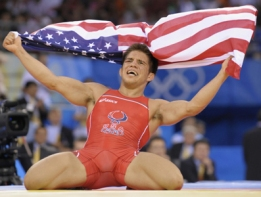 Henry Cejudo of the US celebrates his vi