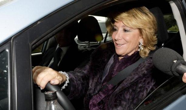 El altercado de tráfico de Esperanza Aguirre pasa a ser delito
