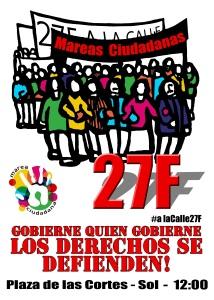 Cartel manifestacion Mareas Ciudadanas 3