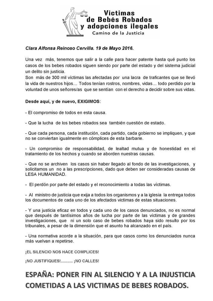 Convocatoria Clara Alfonsa Reinoso Cervilla